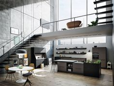 30 Modern German Interior Design Styles Are Here! - The in Design Interior House - Inspiration for Your HOME! Urban Kitchen, Kitchen Living, Home Interior, Interior Architecture, Kitchen Interior, Modern Interior, Casa Hipster, Küchen Design, House Design