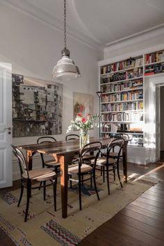 Home Library Design, House Design, Interior Exterior, Interior Architecture, Living Room Decor, Living Spaces, Up House, Dining Room Inspiration, Dream Apartment