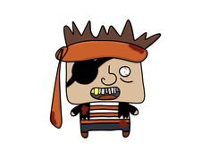 Cartoon pirate made in Potoshop.