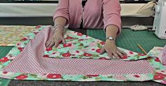 This cute, cozy little self-binding receiving blanket is such a great project!