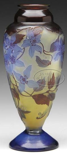 Lot 1116. GALLE FRENCH CAMEO WINDOWPANE VASE. (62680)