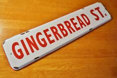GINGERBREAD STREET SIGN Bakery Baker Country Primitive Christmas Kitchen Decor #OhioWholesale #Country