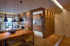 Apartamento decorado RJZ -: Salas de jantar translation missing: br.style.salas-de-jantar.moderno por Gisele Taranto Arquitetura