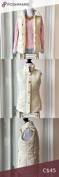 Tommy Hilfiger Puffer Vest Excellent condition No stains or damage The perfect puffer to layer and keep warm this winter 🥰 Off-white colour Tommy Hilfiger Jackets & Coats Vests Tommy Hilfiger Windbreaker, Tommy Hilfiger Jackets, Tommy Hilfiger Jeans, Black Puffer Vest, Black Vest, Down Vest, Off White Color, Fall Jackets, Keep Warm