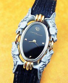 Carrera y Carrera Watch  (Ladies Sculptured Titanium & Solid 18K Gold Horse Wristwatch, Women's Pre-owned Designer Watches)