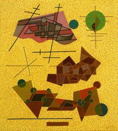 Otto Nebel Events in the light yellow 1937 Oil on canvas with plaster base