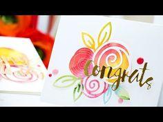 Simon Says Stamp | DieCember – Watercolor Diecuts. Video | | Yana Smakula. My Cardmaking & Scrapbooking