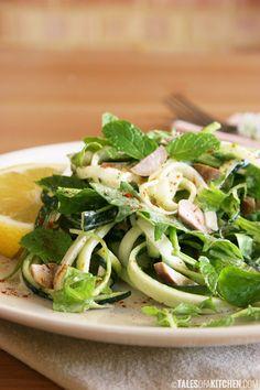 raw zucchini pasta salad