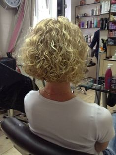 spiral perm with stacked bob