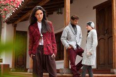 KUNA » Izquierda: Cardigan Leila  Centro: Cardigan Ludovic  Derecha: Cardigan Lara, Gorro Lina