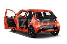 Door View of Orange 2015 Toyota Aygo X-Cite 2WD MT Micro Car