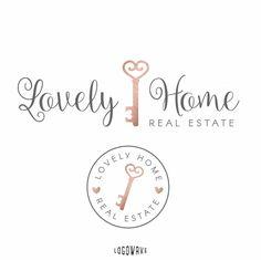 Key Logo. Home Key Logo. Realtor Logo. Real Estate Logo. Logo Key Realtor. Submark Brand Logo. Watermark Branding Logo. Premade Realty Logo by Logowave on Etsy