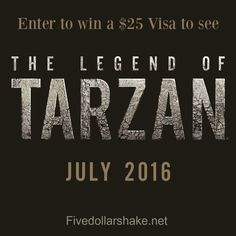The Legend Of Tarzan New Movie Clip & Giveaway Prize Giveaway, Gift Card Giveaway, Tarzan Movie, Covert Affairs, Win Prizes, Enter To Win, Romance Books, New Movies, Revenge
