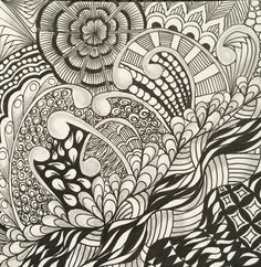 #Zentangle pattern