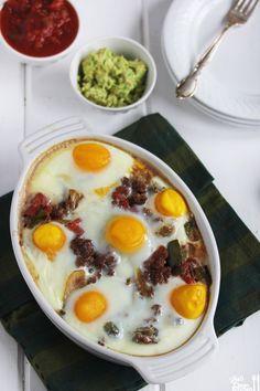 Ranch breakfast idea Mexican Breakfast Casserole | Lexi's Clean Kitchen gluten free / g free / gf / wheat free / dairy free / paleo