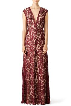 Rent Maroon Romantic Ride Gown by LM Collection for $70 only at Rent the Runway.