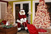 Upload pictures of your house to this website and they will put Santa (or Easter Bunny...Tooth Fairy) in your picture.