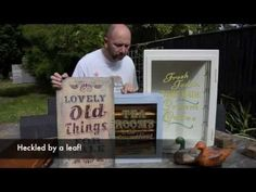 Dovetails Stencil Project using Annie Sloan Chalk Paint™ - YouTube