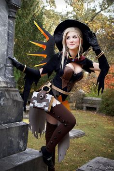 Witch Mercy from Overwatch Cosplayer: Tina-Kinz Cosplay