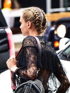Cara Delevingne's Lob Styling Ideas Are #HairGoals via @ByrdieBeautyUK