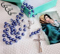 Catholic First Communion Rosary with Laminated by GooseCreekGems