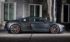 The gunmetal grey gives the R8 a more clandestine feel. Sneak in, sneak out. And quickly.