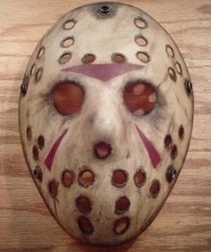 Custom Friday the Jason Voorhees Mask. Friday The 13th Poster, Movie Covers, Jason Voorhees, Horror Films, Scary Movies, First Night, Cosplay Costumes, Halloween Ideas, Cupcake