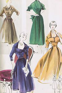 VINTAGE FASHION SEWING DRESSMAKERS PATTERN REFERENCE BOOK    MODES AND TRAVAUX    Editions Edouard Boucherit  Modes & Travaux -- Octobre 1952    Book Number 622    For sale is this FABULOUS vintage FRENCH pattern catalog book from Modes and Travaux    (Fashion & Work) Patterns
