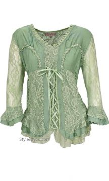 "Hoyanori's ""going thru a town"" clothes? ............................................................. .......................................................... Pretty Angel Clothing Jocelyn Blouse In Aqua"