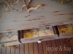 Ferpie and Fray in Miss Mustard Seed Milk Paint---Trophy