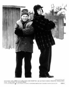 "1993 Press Photo Jack Lemmon and Walter Matthau in ""Grumpy Old Men"" Grumpy Old Men Quotes, Old Man Quotes, Ice Fishing House, Fishing Shack, Fishing Rods, Fishing Tackle, Fishing Stuff, Walter Matthau, Walleye Fishing"