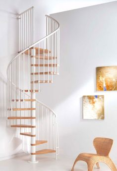 Beautiful Indoor Spiral Staircase: Astonishing Minimalist Spiral Staircase In Small Space Interior ~ trastus.com Interior Design Inspiration