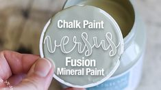 Chalk Paint vs Fusion Mineral Paint: What is the difference between chalk paint and fusion? See the one BIG difference in this furniture paint