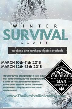 Colorado Mountain Man Survival goal is to bring you premier instruction and educate those interested in survival training and bushcraft. Skills: Bushcraft, Survival Skills, Medical, Navigation, Primitive and Modern Skills. Survival Classes, Winter Survival, Survival Quotes, Colorado Mountains, Wilderness Survival, Mountain Man, Training Courses, Letting Go, Saving Money