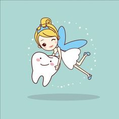 Illustration about Cartoon tooth with tooth fairy, great for dental care concept. Illustration of medical, clean, dentistry - 70278400