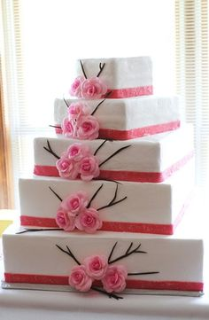 Bright Pink and Green Spring Wedding – Loverly Pretty Cakes, Beautiful Cakes, Amazing Cakes, Fab Cakes, Just Cakes, Dessert Ideas, Cake Ideas, Wedding Cake Inspiration, Wedding Ideas