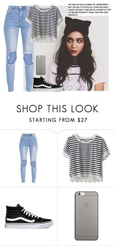 """""""i have these shoes"""" by tay-tay-marie ❤ liked on Polyvore featuring Chicwish, Vans, Native Union, men's fashion and menswear"""