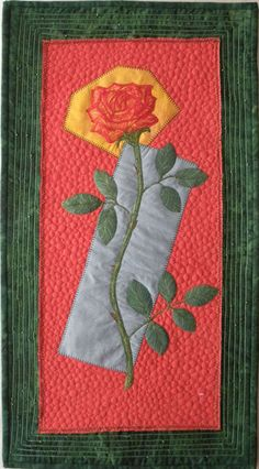 Sally Gould Wright Textile Artist The Rose
