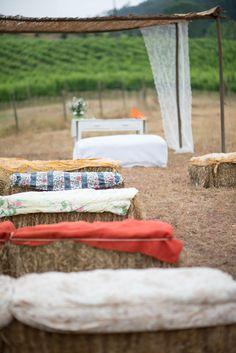 ceremony, vineyard, country side venue, straw bales  #quintadesantana #vineyard http://theknotweddingphotography.com/