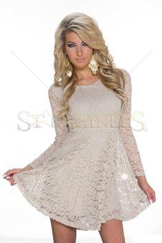 Vibrating Offer Cream Dress
