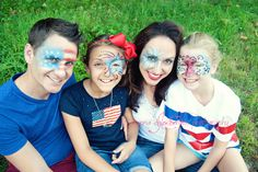 July 4th Face paint :) by Joanna Chamberlain Photography www.facebook.com/letmeseeyourgoodside