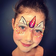 A sprinkly little unicorn  #100's&1000's #radelaide #sprinkles #unicorn #adelaidehills #facepaint #rainbow #fun