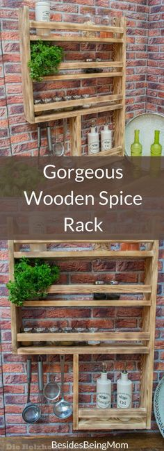 Amazing Spice Rack in old wood with lots of space! found #ad Etsy, Quality made in Germany by the Holzheinzelmaenner #countryhomedecor farmhousestyle #bbmaff #spicerack
