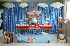 Otávio's Noah's Art 1st birthday party | CatchMyParty.com