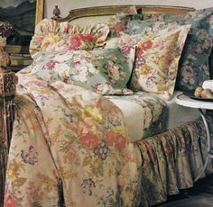 "Ralph Lauren Home ""Kirsten"" Florals.  Look at how beautifully these florals work together."