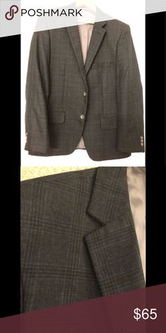 Plaid Blazer Size 42R. This fitted blazer has a vintage inspired look/feel. Also looks great with pair of jeans. Haggar Suits & Blazers Sport Coats & Blazers