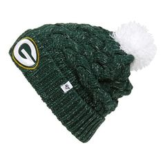 '47 Brand Green Bay Packers Youth Gameday Tassel Knit Hat - Green/Gold