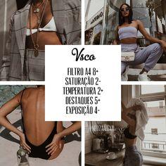 Filtros vsco para instagram Photo Editing Vsco, Instagram Photo Editing, Photography Filters, Photography Editing, Instagram Themes Vsco, Foto Filter, Foto Glamour, Mode Collage, Best Vsco Filters
