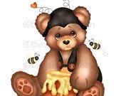 Craft Cliparts - Honey Bear
