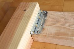 How to install bed rail brackets and build a beautiful DIY bed frame & wood headboard easily. Free DIY bed plan & variations on king, queen & twin size bed, best natural wood finishes, and lots of helpful tips! - A Piece of Rainbow Bed Frame And Headboard, Diy Bed Frame, Wood Headboard, Wooden Bed Frames, Wood Beds, Woodworking Plans, Woodworking Projects, Woodworking Workshop, Woodworking Jointer